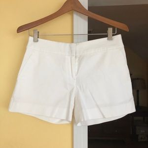 White chino style shorts, LOFT, 00. New with tags.
